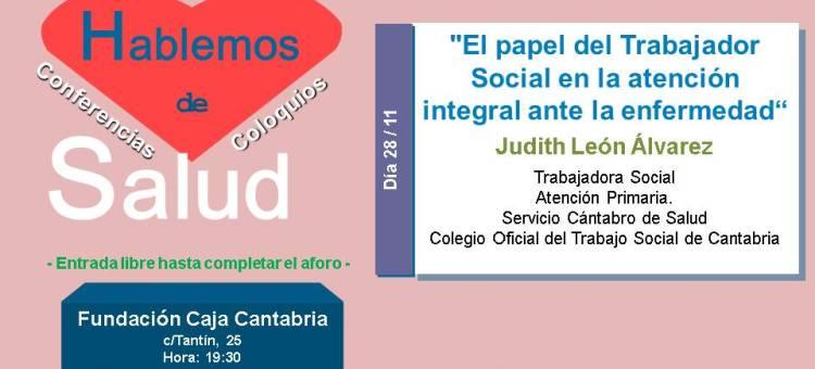 CHARLA SALUD (organiza Ayto. Santander) Colabora Colegio T.S. Cantabria