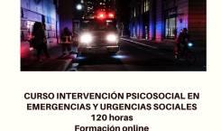 CURSO DE INTERVENCIÓN PSICOSOCIAL EN EMERGENCIAS Y URGENCIAS SOCIALES (del 8 de enero al 1 de abril/18)