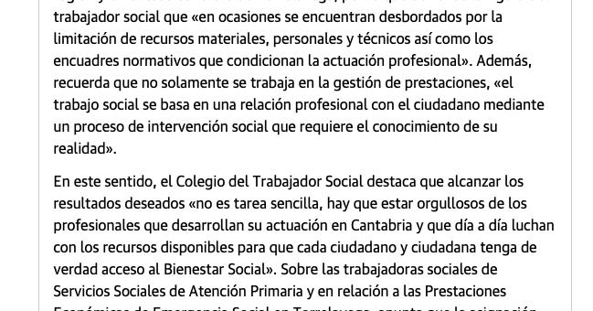 TRABAJO SOCIAL, CUESTIÓN DE EMERGENCIA