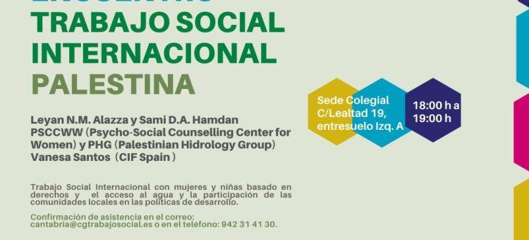 COTS de Cantabria, 27 de noviembre: Trabajo Social en Palestina